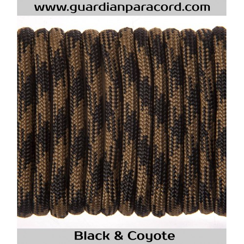 Guardian Paracord 550 Type III Black & Coyote