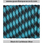 Guardian Paracord 550 Type III Black & Caribbean Blue