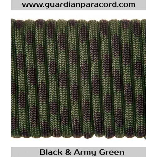 Guardian Paracord 550 Type III Black & Army Green