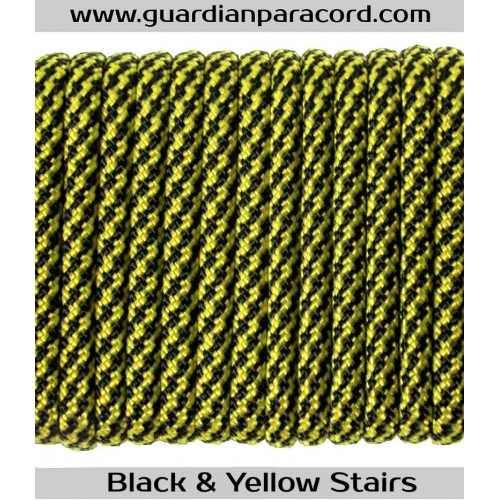 Guardian Paracord 550 Type III Black&Yellow Stairs