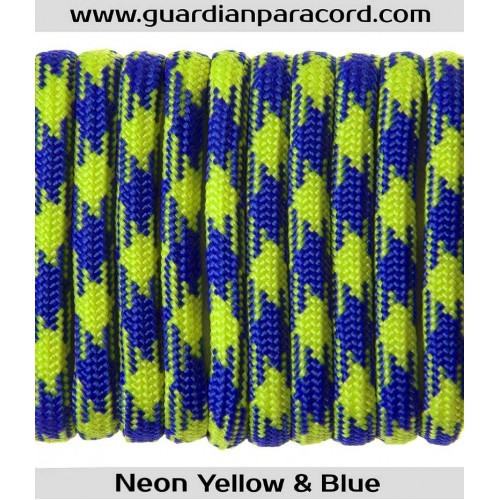 Guardian Paracord 550 Type III Neon Yellow & Blue